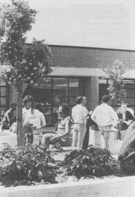 Students Gather Between Classes 1971