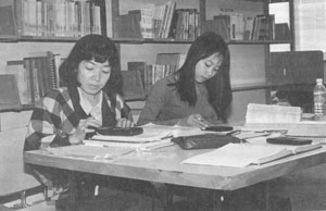 Studying in Library Late 1990s