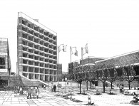 Architectural Rendering Future Laney Campus (1966)