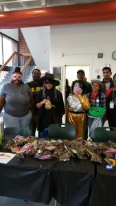 Staff and students celebrate Halloween in costumes