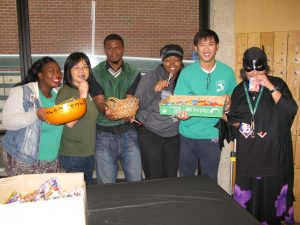 Students display Halloween treats in Tower Building