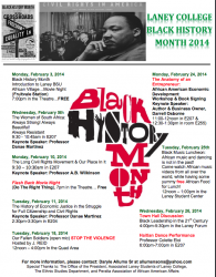Laney Black History Month Events
