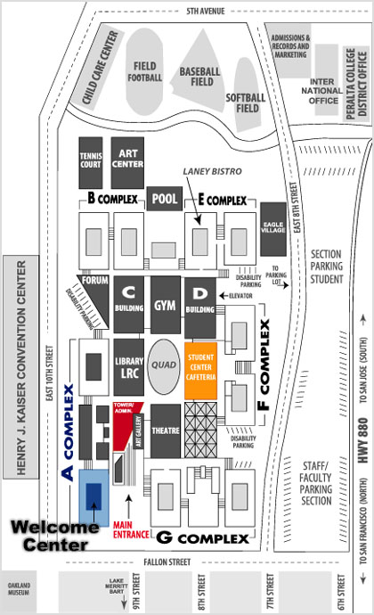 Laney Campus Map Community Services Fee Based Community Services
