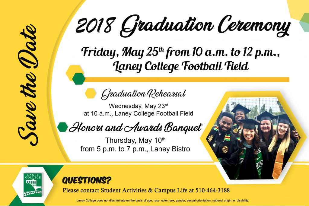 Laney College Spring Graduation 2018 information