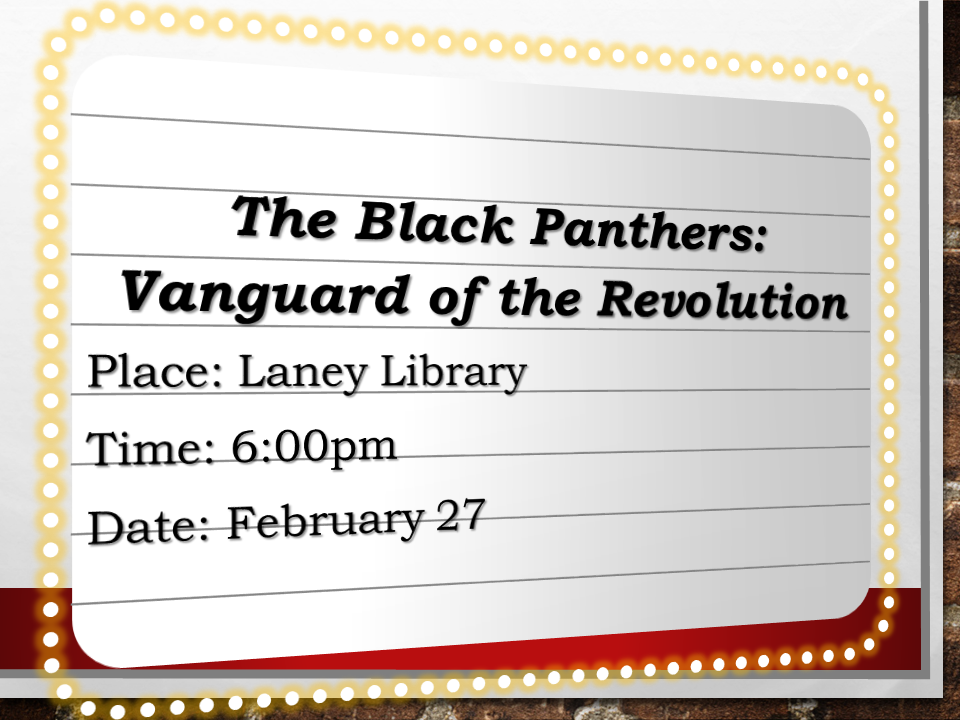 film workshop in library on tuesday, 2/27 at 6pm