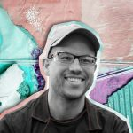 Headshot of Adam Balogh with Stylized Background.