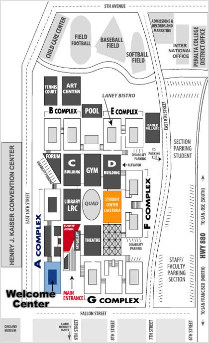 Campus map laney college media dept laney college media for 125 12th street 4th floor oakland ca 94607