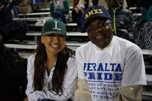 Peralta Football Night Laney Stadium Tammeil Gilkerson and Jowel Laguerre
