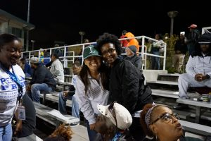 Peralta Football Night Laney Stadium Mary Denise Jackson and President Gilkerson