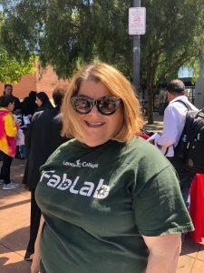 Raya Zion at Laney College Spring Job Fair 2018