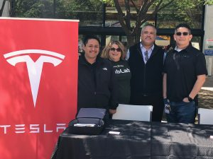 Laney College and Tesla Representatives Spring Job Fair 2018