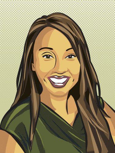Art portrait of Laney President Tammeil Gilkerson Image by Paul Padurariu