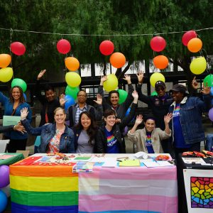Students and administrators at Laney College National Coming Out Day 2017