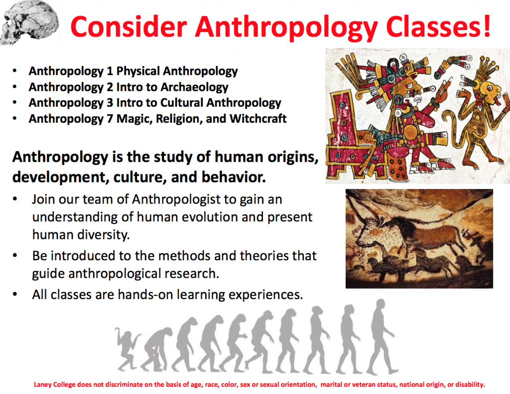 Anthropology classes at Laney College spring 2018