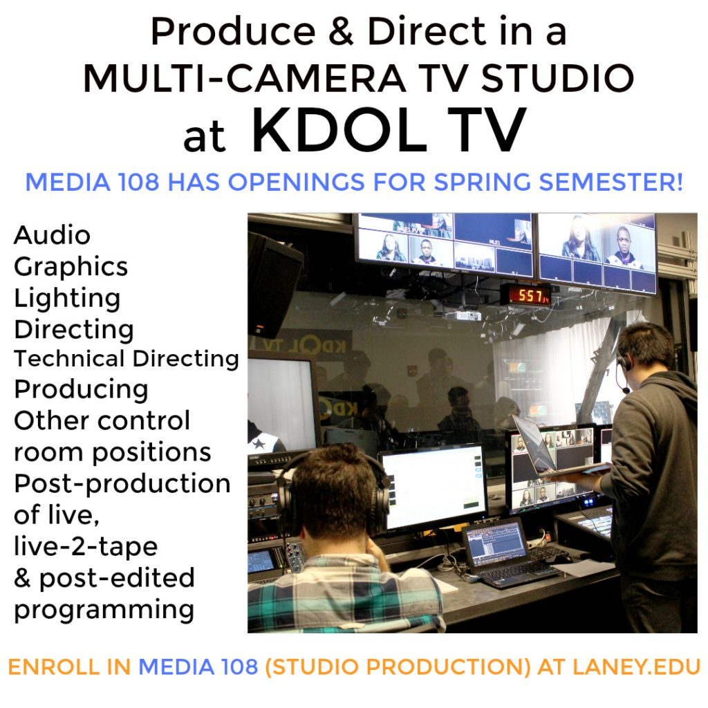 media 108 kdol class at laney college