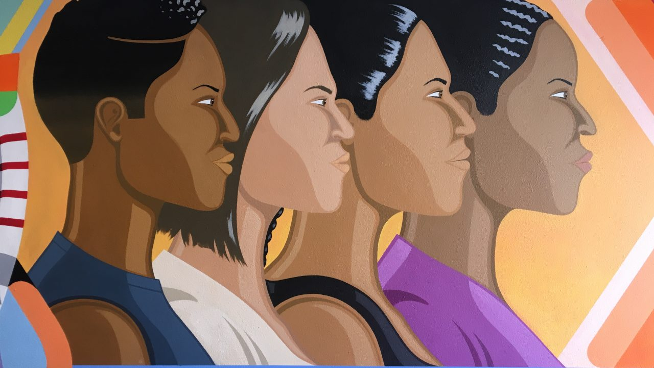 Picture of the mural of the ROC ladies