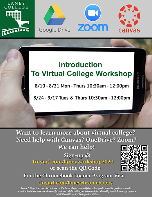 Introduction To Virtual College Workshop Sign-up For Student Tech Help