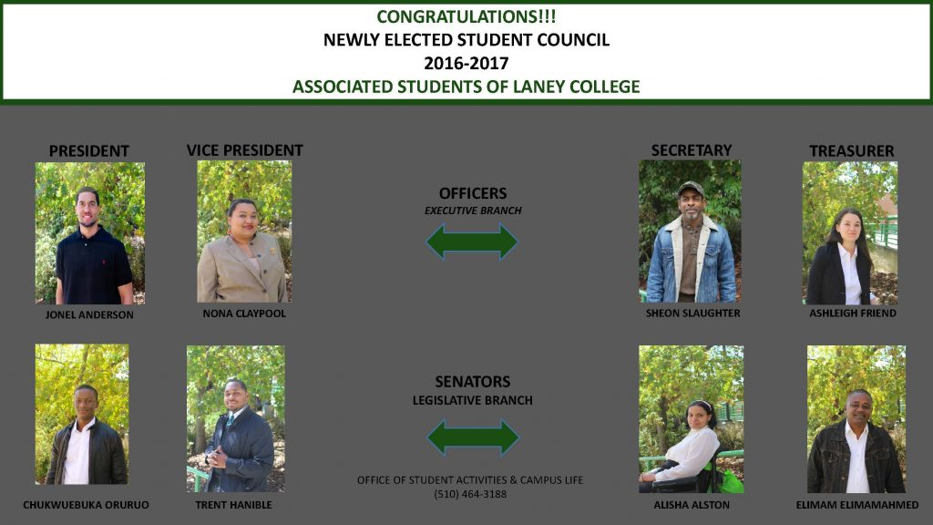 New ASLC Officers