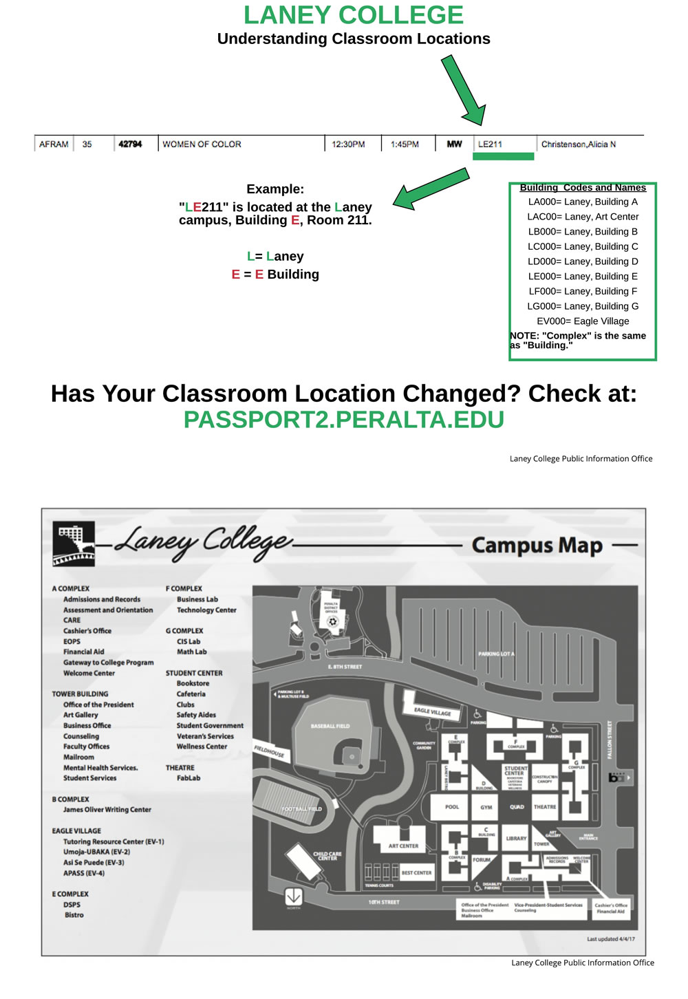 Campus Map Laney College Laney College