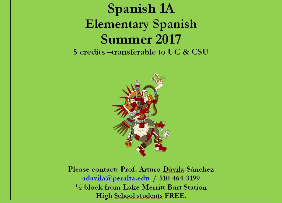 3-SPANISH-1-A-ELEMENTARY-SPANISH-SUMMER-2017 Laney college