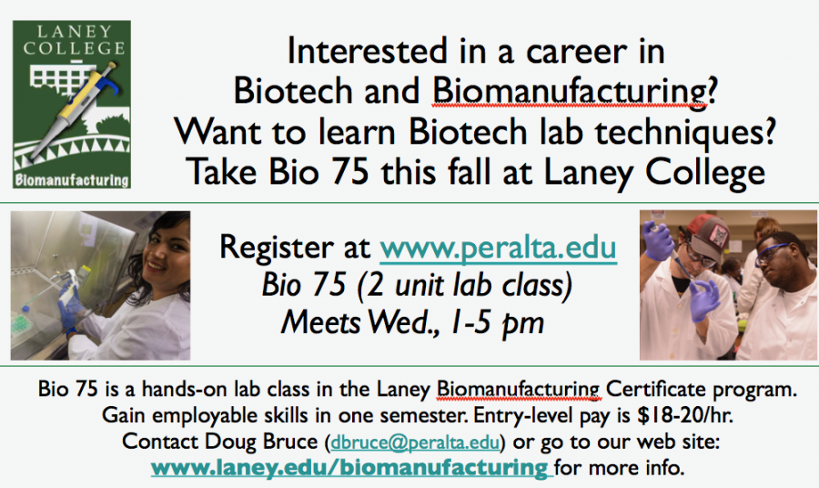 Bio Flyer Laney College Fall 2017