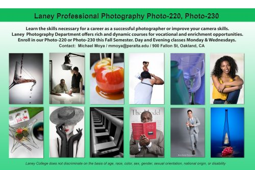 Laney photography department fall semester classes 2017