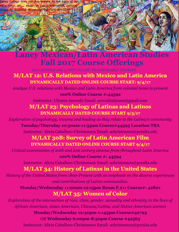 Laney College MLAT class Fall 2017
