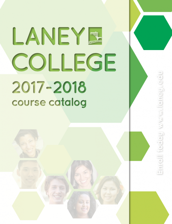 Cover of Laney College Catalog 2017 2018