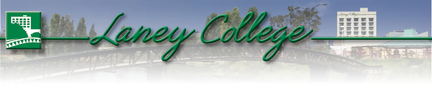 Header of Laney College shows landscape
