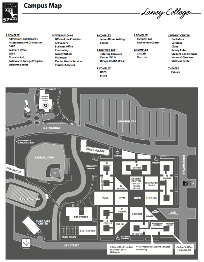Campus Map for Laney College Revised on January 2018