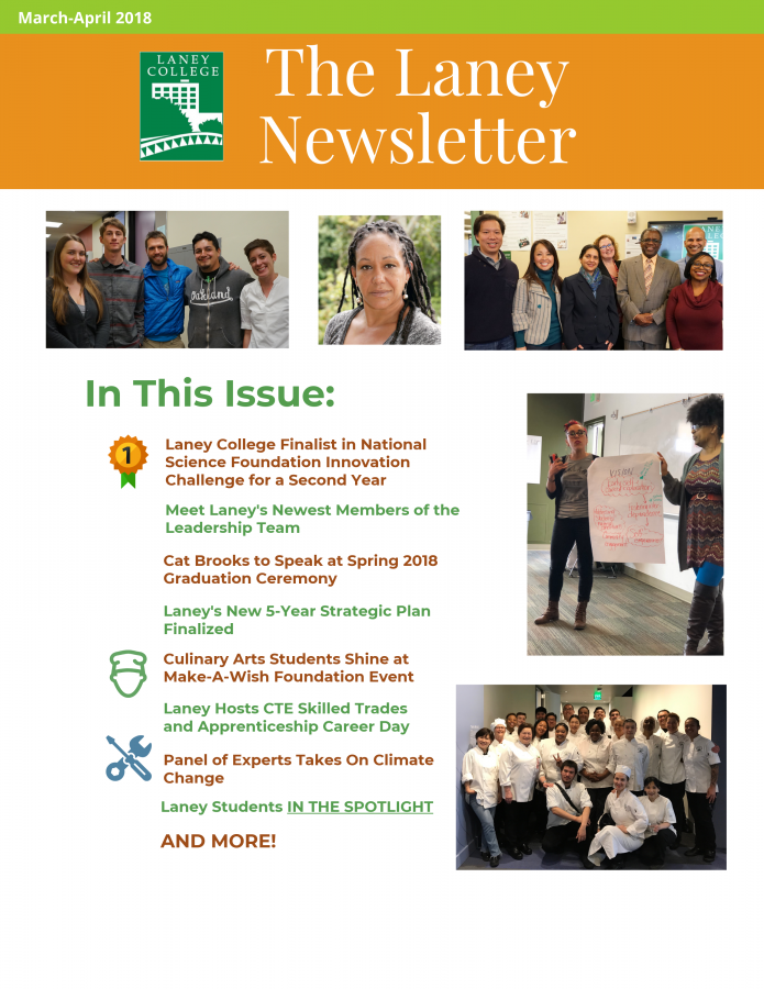 Newsletter Cover-Laney College-March-April 2018